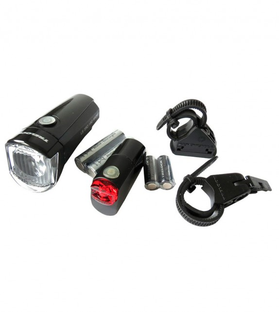 Set Luces Led Trelock I-go Sport C/pila C/sop. Neg