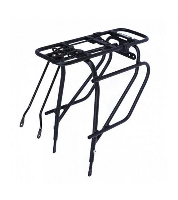 Portabulto Basil Extra Fuerte Para Sistema Fijacion Mik Trasero 26/28 Aluminio Negro