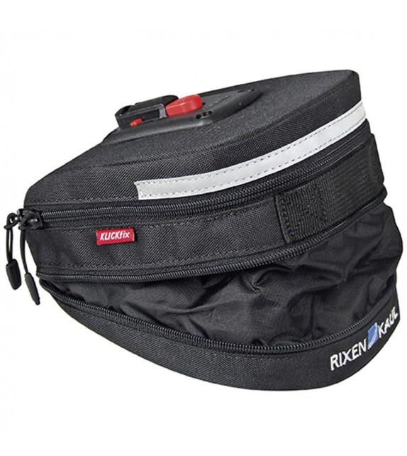 Bolsa Klickfix Para Tija Micro 200 Extensible Adaptador Incluido 12x8x19 Cm Negro 1,5 A 2 Litros
