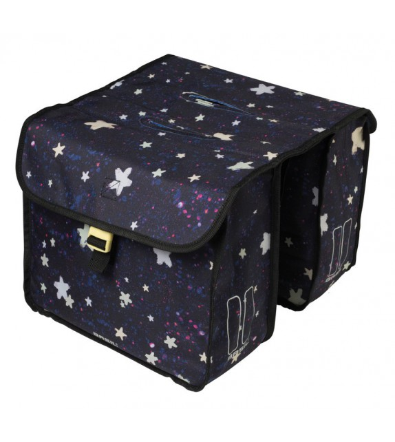 Alforjas Basil Stardust Nightshade Imperme.adorno Reflectante 20 L Cierre Click