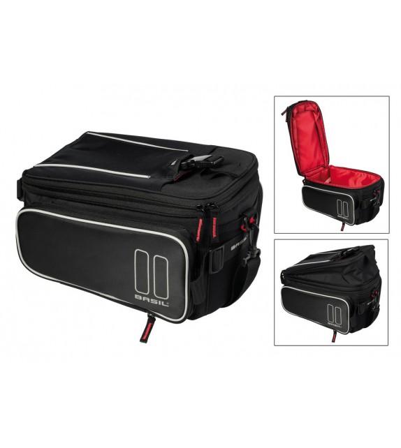 Bolsa Tras.basil Sport Design Trunkbag Reflect.negro Imperm.