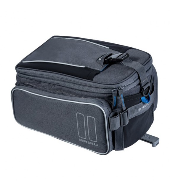 Bolsa Trasera Basil Sport Design Trunkbag+placa Adaptadora Mik Impermeable 7-15l Gris