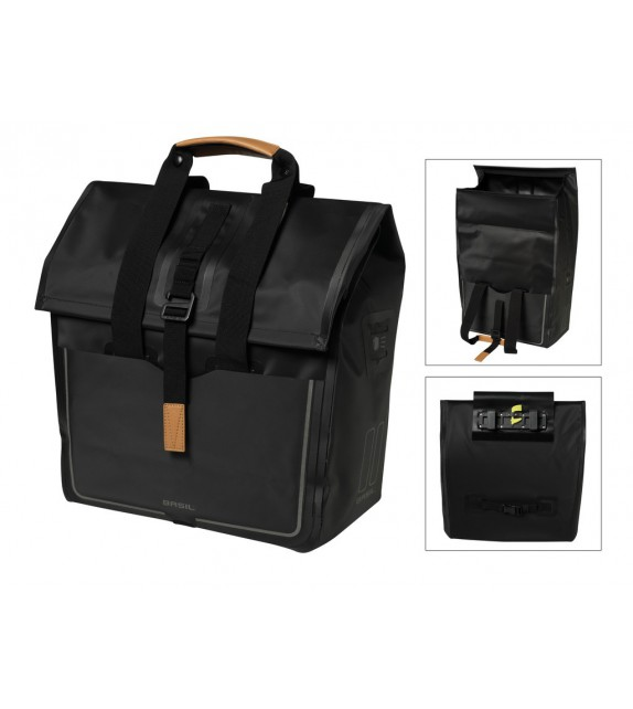 Bolsa Trasera Basil Urban Dry Shopper C/reflectante Impermeable 25l Cierre Ajustable