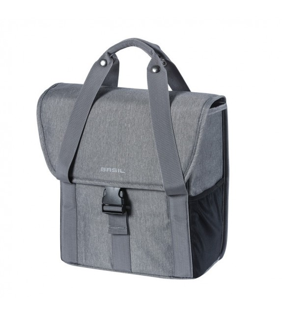 Bolsa única Basil Go Single Grey Melee Con Líneas Reflectantes 16 L