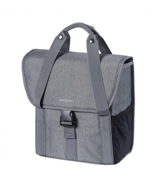 Bolsa única Basil Go Single Grey Melee Con Líneas Reflectantes 16 L