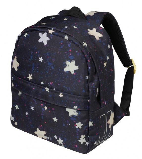 Mochila Basil P/niños Stardust Estrellas C/reflectante,compartimentos Y Cremallera 8 Litros