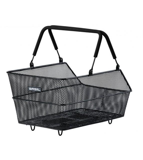 Cesto Con Asas Trasero Basil Cento Mik Aluminio Negro (45x31x21) P/portabulto De 80-150mm