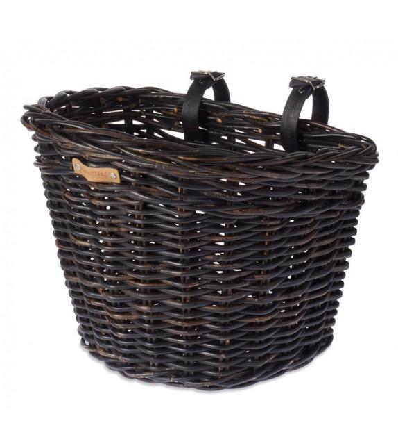 Cesto Delantero Basil Darcy L Mimbre Negro 35l (41x35x34 Cm)