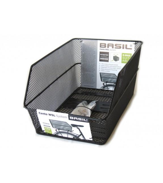 Cesto Trasero Basil Cento Fijo Sistema Wsl Negro (45x31x22 Cm)