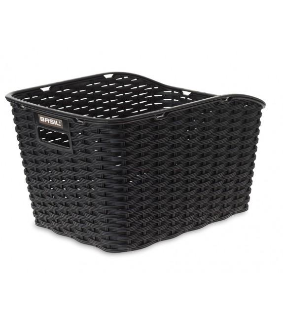 Cesto Trasero Basil Weave Wp Plastico Negro (43x32x25 Cm)