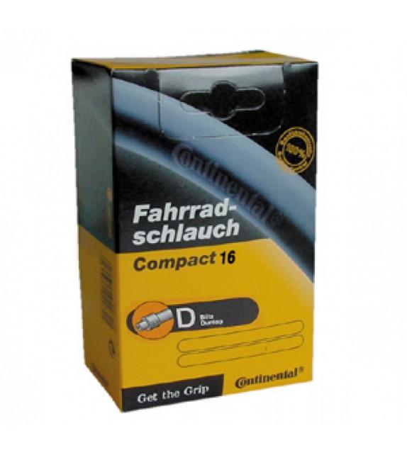 Camara Continental Compact 16x1 1/4-1.75 Valvula Dunlop 26 Mm