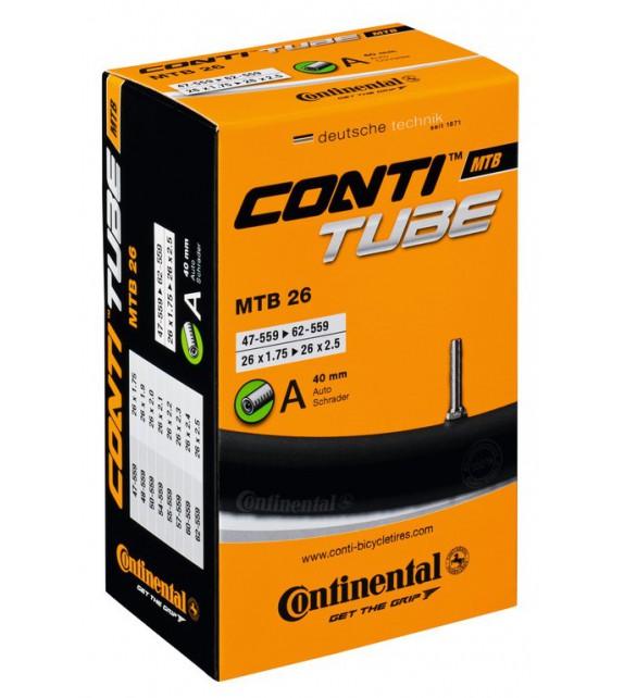Camara Continental Mtb 26x1.75-2.30 Valvula Presta 60 Mm