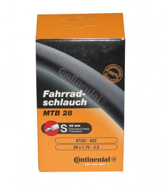 Camara Continental Mtb 28/29x1.75-2.40 Light Valvula Presta 42 Mm