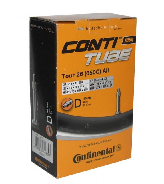 Camara Continental Tour 26x1 1/8-1.75 Valvula Dunlop 40 Mm