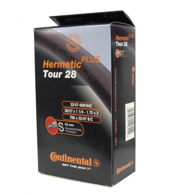 Camara Continental Tour Hermetic Plus 28x1 1/4-1.75 Valvuva Presta 42 Mm