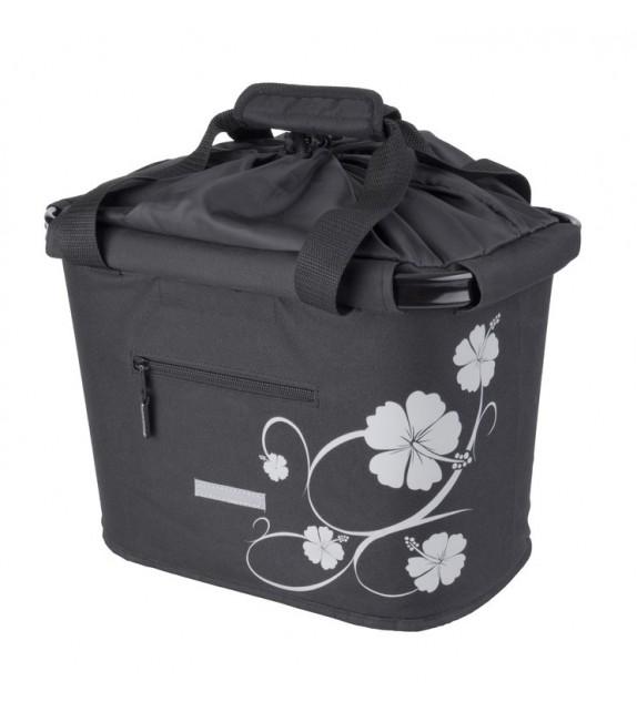 Bolsa Delantera Point Bluebird Negra/hibisco Con Soporte Quick Realise (35.9x26.4x27.3) 20 Litros