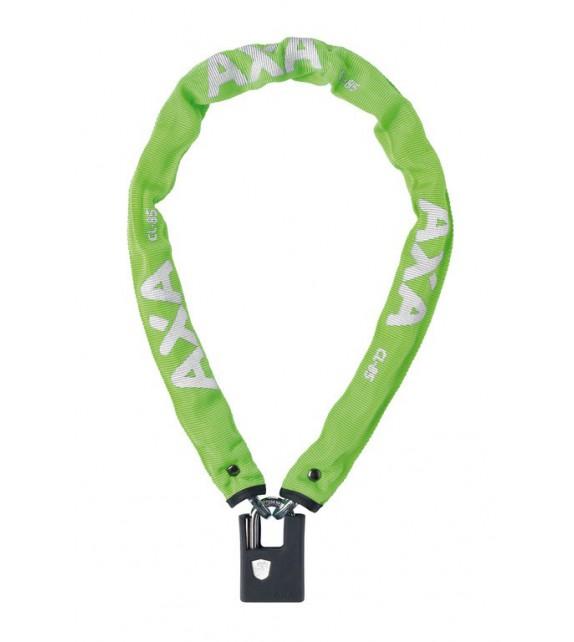 Candado Cadena Axa Clinch+largo 85 Cm Grosor 6 Mm Acero Reforzado Funda Goma Llave Seguridad 8 Verde