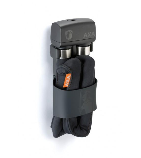 Candado Plegable Axa 600 Largo 95 Cm Grosor 6 Mm Acero Reforzado Negro 850 G