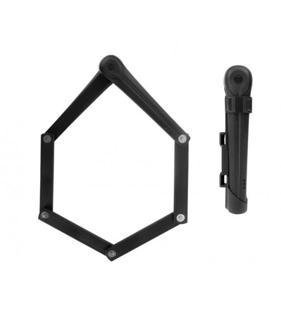 Candado Plegable Axa Fold 100 Largo 100 Cm Negro Seguridad 9 Medida Plegado 22x6 Cm Peso 950 G