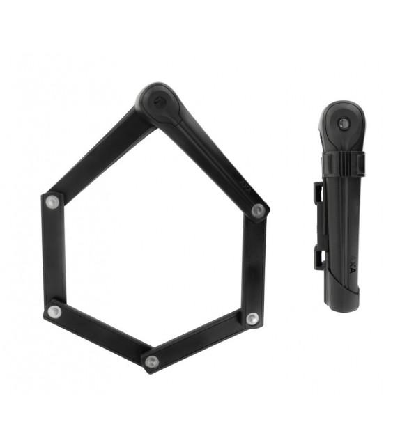 Candado Plegable Axa Fold 85 Largo 85 Cm Negro Seguridad 9 Medida Plegado 20x6 Cm Peso 850 G