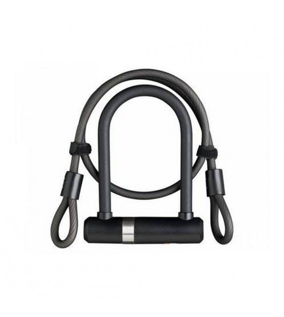 Candado U Axa Newton Lock Pro Mini + Cable 100 Cm X 10 Mm Negro