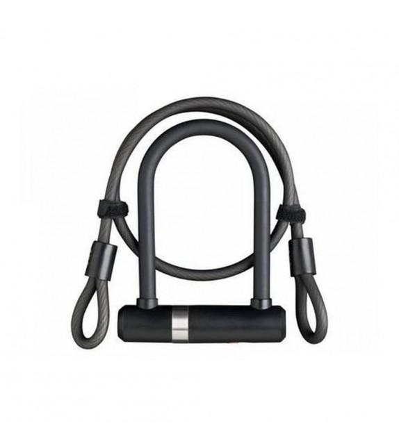 Candado U Axa Newton Lock Pro Mini + Cable 100 Cm X 10 Mm Negro