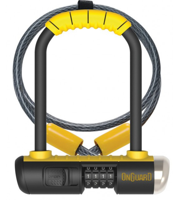 Antirrobo U Onguard Bulldog Mini Dt 8015c 90 X 140mm, ø 13mm, Con Soporte
