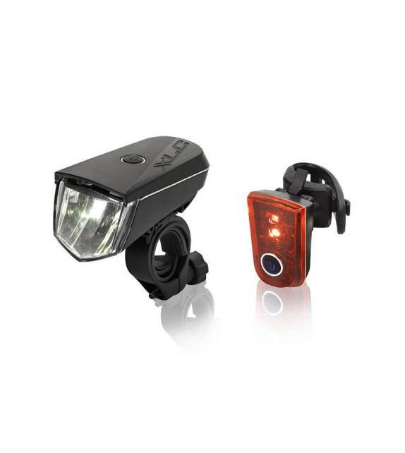 Xlc Cl-s18 Set Faro A Bateria Sirius B20 Led Con Reflectante 20 Lux+luz Trasera