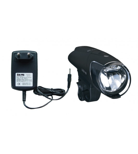 Luz Delantera Busch&müller Ixon Iq Premium 80 Lux+bateria+cargador Negro