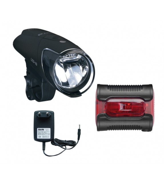 Luz Delantera Busch&müller Ixon Iq Premium 80 Lux+bateria+cargador+ixback Sensor Negro