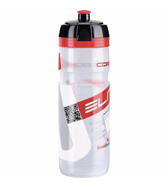 Bidon Elite Supercorsa Transparente Rojo Bio 750 Ml