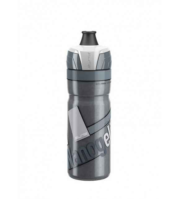 Bidon Elite Termo Nanogelite Ahumado Logo Blanco 500 Ml