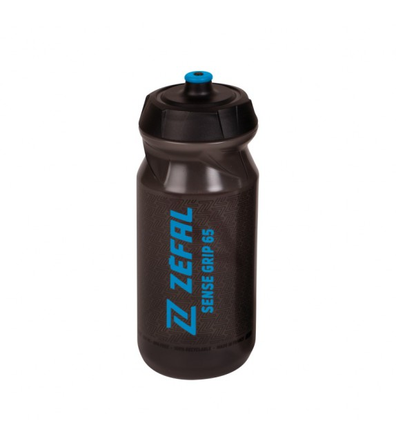 Bidon Zefal Sense Grip 65 Negro Letras Azules