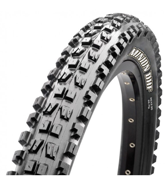 Cubierta Maxxis Minion Downhill F Tubeless Ready Exo Dual Compound 26x2.30 Plegable Negro 58-559