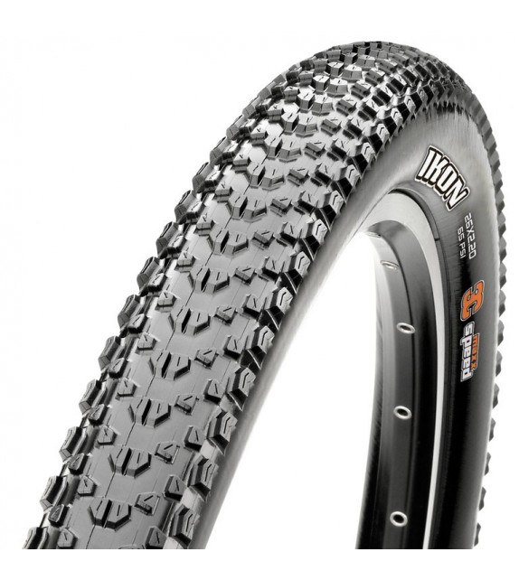 Cubierta Maxxis Ikon Tubeless Ready Exo 3 Compound Maxxspeed 26x2.20 Plegable Negro 57-559