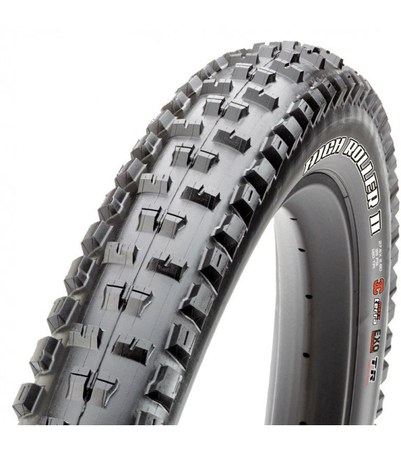 Cubierta Maxxis High Roller Ii Tubeless Ready Exo Dual Compound 27.5x2.80 Plegable Negro 71-584