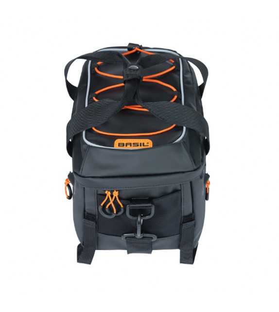 Bolsa Basil Miles Tarpaulin 7l Con Reflectante Cierre Velcro Negro/naranja