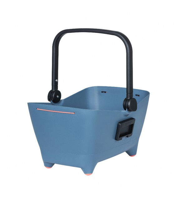 Cesta Delantera Para Perros Basil Buddy 32l Con Placa Adaptadora Kf Plastico Azul (5x32x22 Cm)
