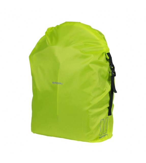 Funda Mochila Basil Keep Dry And Clean Impermeable Vertical Hook-on Amarillo Reflectante