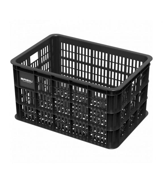 Cesta Basil Crate 50 Litros Plastico Negro (45.5x31x26 Cm)