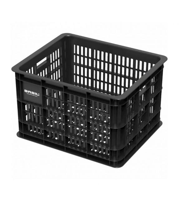 Cesta Basil Crate 33 Litros Plastico Negro (40x33x25 Cm)
