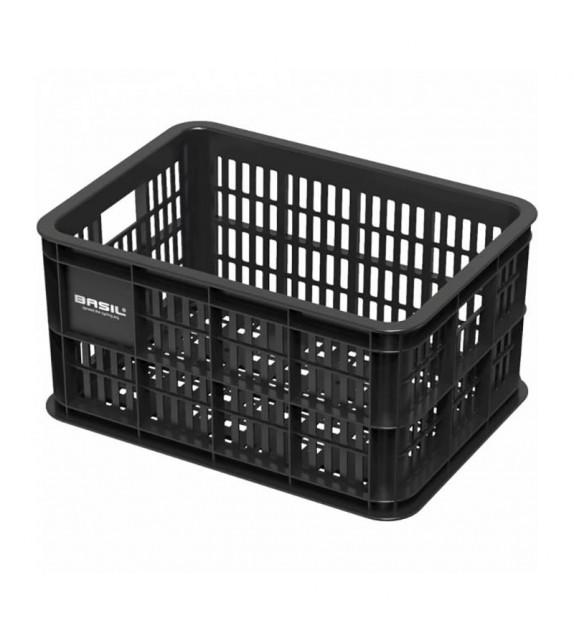 Cesta Basil Crate 25 Litros Plastico Negro (39.5x29x21 Cm)