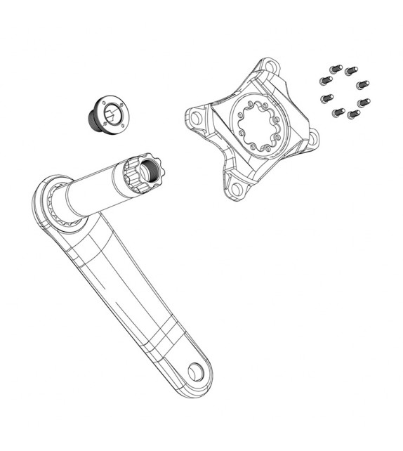 Kit Tornillo De Biela Auto-extractor Sram Dub M18/m30 Negro
