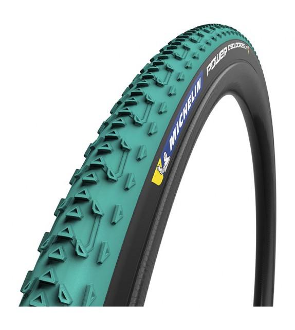 Cubierta Michelin Power Cyclocross Mud 700x33 Tub. Ready Competi. Line Plegable Verde/negro 33-622