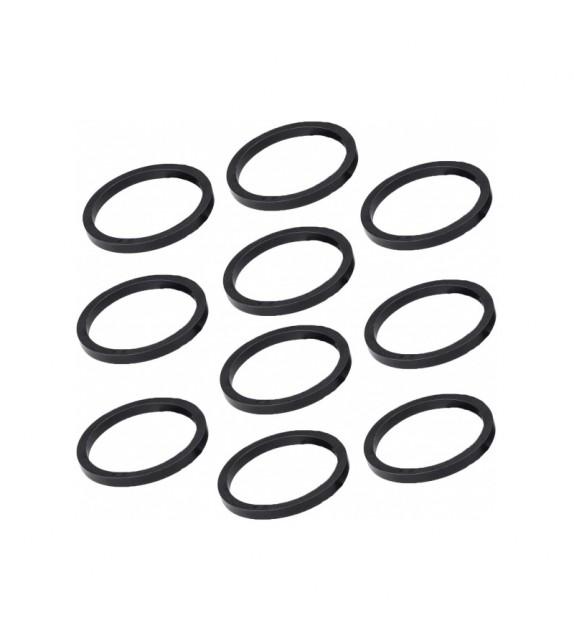 """Set Espaciadores Deda Tubo Direccion 1-1/8"""" 5 Mm Aluminio Negro (10 Unidades)"""