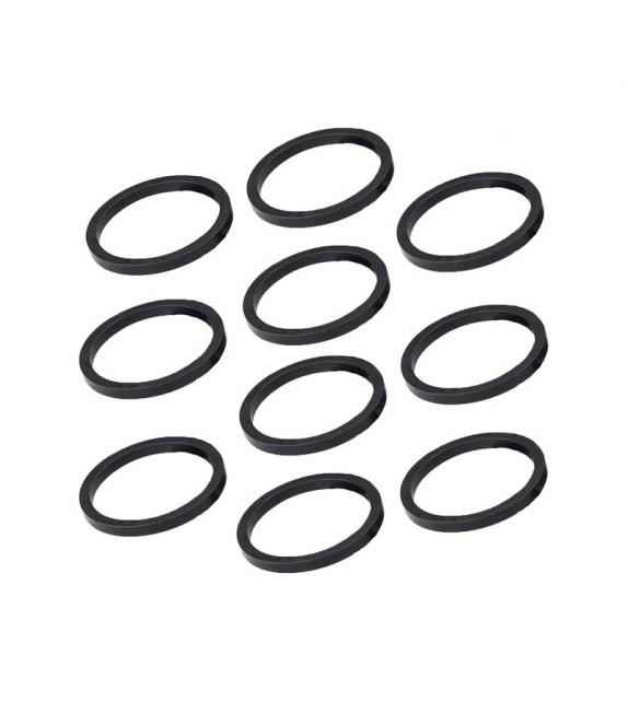 """Set Espaciadores Deda Tubo Direccion 1-1/8"""" 3 Mm Aluminio Negro (10 Unidades)"""
