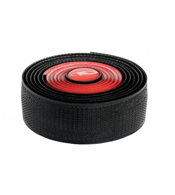 Cinta de manillar DSP doble 2.5mm rojo/negro