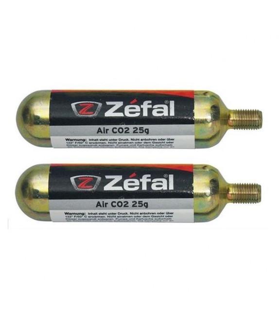Blister 2 Cartuchos De Aire Zefal Co2 25 G C/rosca