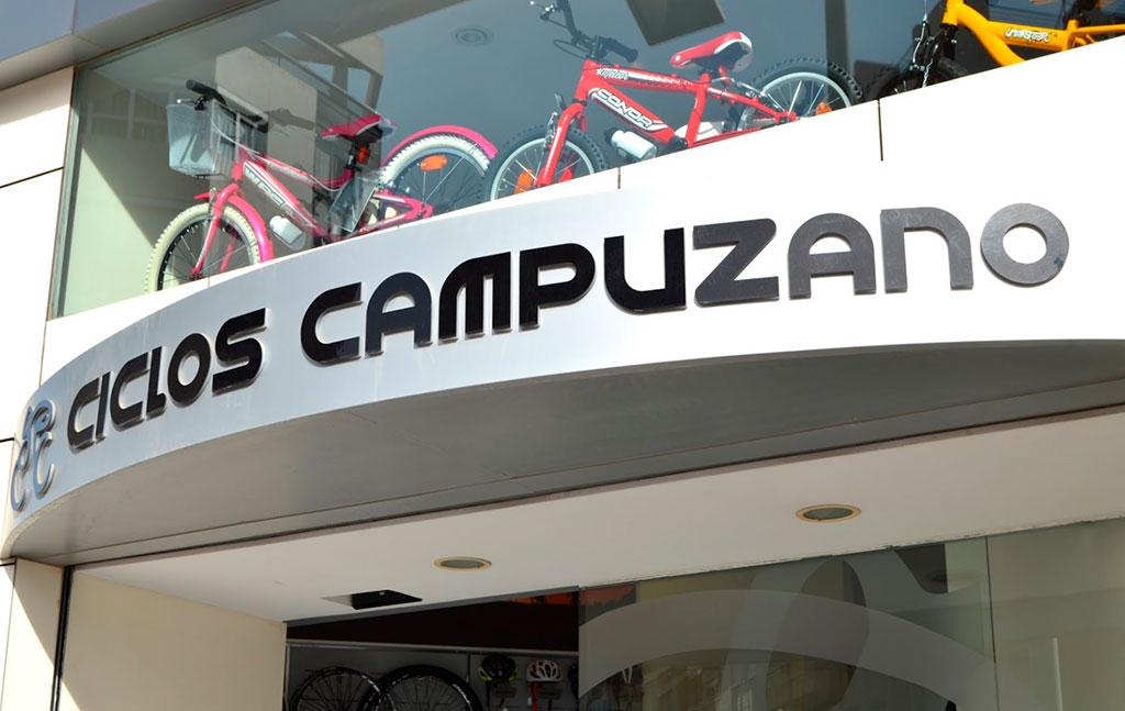 Fachada de tienda en Alicante de bicicletas y accesorios